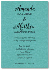 Classic Wedding Teal Shimmer
