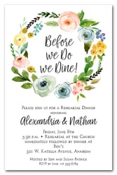 Spring Wreath Rehearsal Dinner Invitations