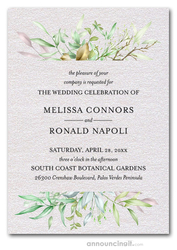 Watercolor Spring Leaves & Branches Invitations