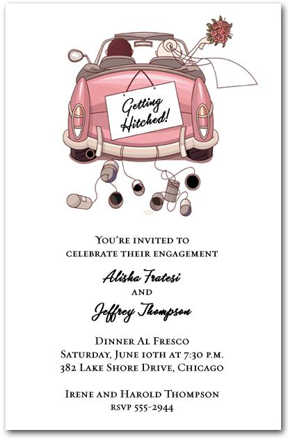 Pink convertible wedding couple invitations engagement invitations stopboris Gallery