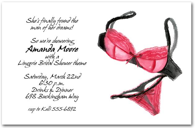 Hot Pink Lingerie Bridal Shower Invitations Lingerie Shower Invitations
