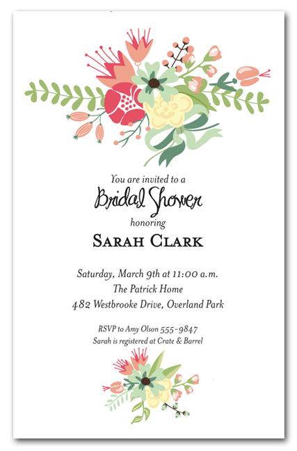 3dfe5c502b2 Flower Garden Bridal Shower Invitations