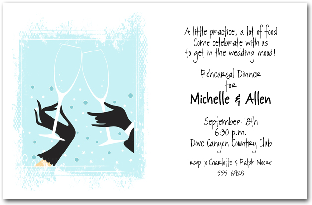 Hors doeuvres invitation dessert invitations appetizers invitations tiffany blue champagne toast stopboris Choice Image